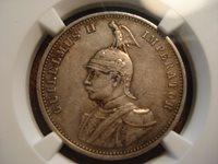 1900 German East Africa Rupie NGC XF40