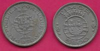 TIMOR PORTUGUESE COLONY 5$00 ESCUDOS 1970 UNC SHIELD WITHIN CROWNED GLOBE ON MAL