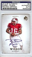 Russell Wilson Autographed 2012 SP Authentic Rookie Card #87 Wisconsin Badgers PSA/DNA #83450248