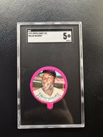 1973 TOPPS CANDY LIDS SGC 5 WILLIE McCOVEY HOF SF GIANTS— SUPER TOUGH*** (wph)