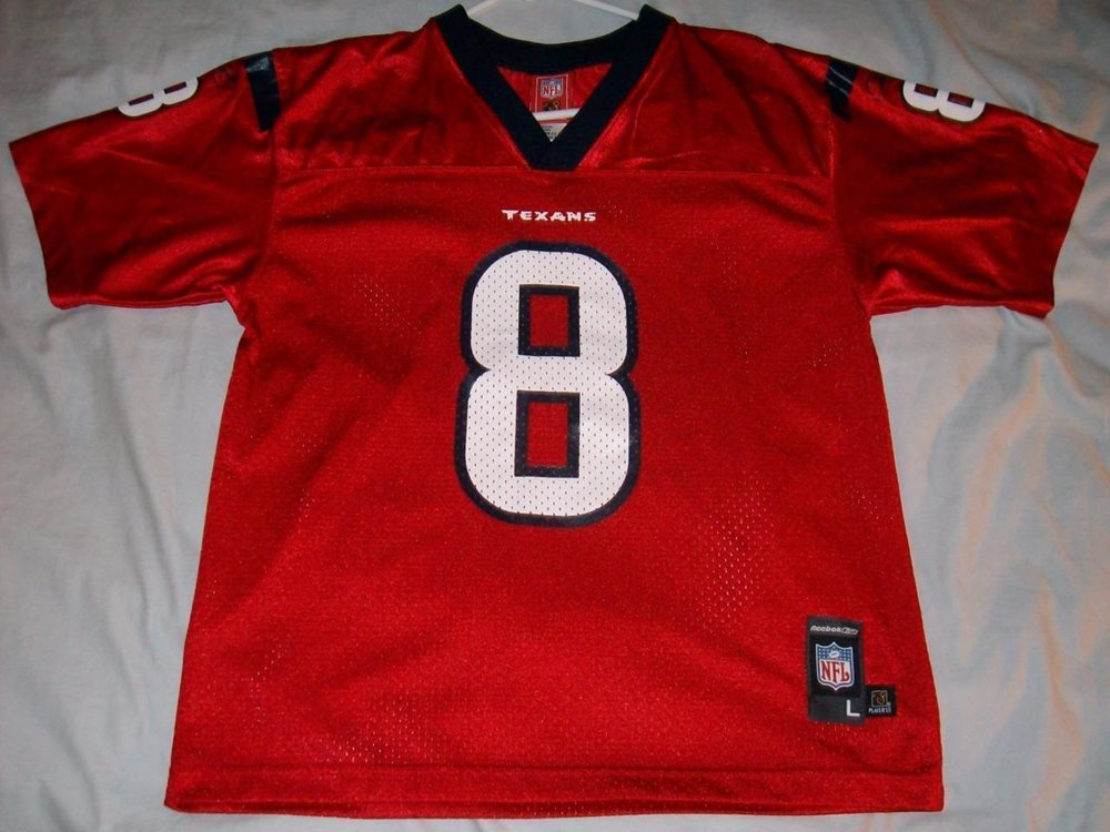 online retailer 50453 d3cb3 David Carr 8 Houston Texans Red NFL Players Inc Jersey Youth Large 14-16  used