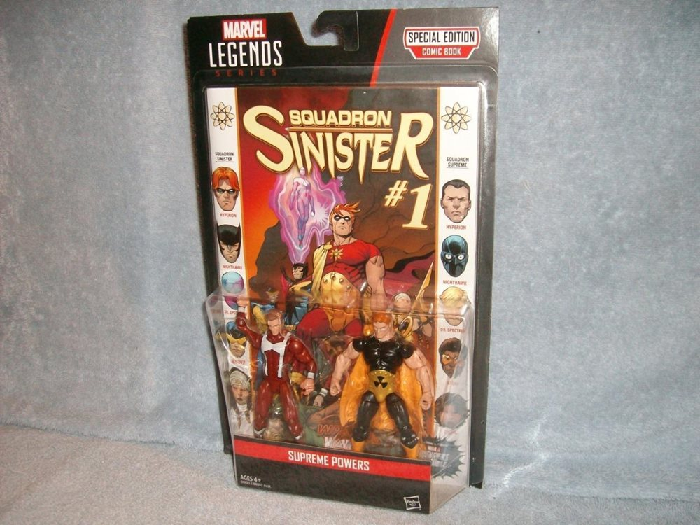 New Hasbro Marvel Legends Supreme Powers w// Squadron Sinister #1 Comic Book