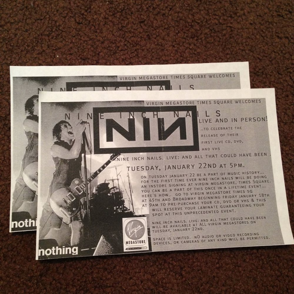 Nine Inch Nails *signed* And All That Could Have Been D