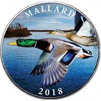 2018 1 oz Mallard NRA Silver Round