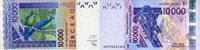10 000 Francs (20)03 West-afrikanische Staaten Pick 818