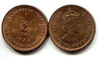 British Caribbean Territories 1/2 Cent 1955 New (CU)Other Caribbean Islands Currency Queen Elizabeth IICoin Small