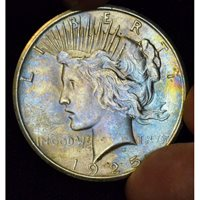 $1 One Dollar 1925 P MS63 light colorful pastel hues CH