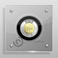Canadian 2 Dollar Perspex/Acrylic Coin Display Case