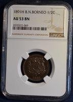 1891H British North Borneo 1/2C, NGC AU53 BN, A Beauty!
