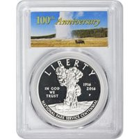 2016-P UNC $1 Silver National Park Service 100th Anniversary NGC MS70 ER