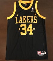 Rare Vintage Nike Rewind NBA Los Angeles Lakers Shaquille O Neal Jersey 8fc418e33