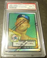 1996 Finest Refractor Wc Mickey Mantle 1952 Topps PSA 9