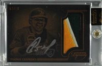 2014 Topps Dynasty Autograph Patches/10 #APYC8 Yoenis Cespedes Auto Card