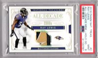 Ray Lewis 2016 National Treasures All Decade HOLO GOLD PATCH #5/5 - PSA 9 MINT