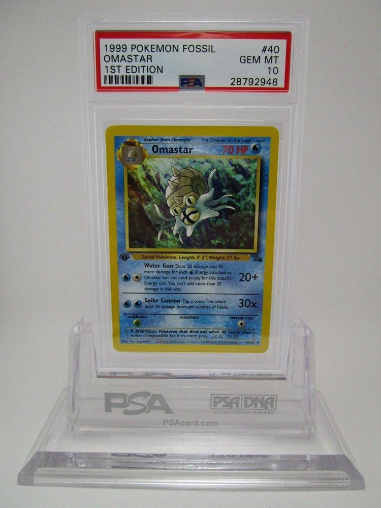 Omastar Fossil Pokemon Card LP