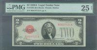 $2.00 1928A USN B08187121A PMG25 Net paper pull