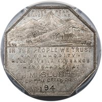 1901 LESHER JM SLUSHER PCGS MS62