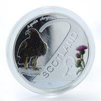 Scotland 2 pounds Golden Eagle Birds of Prey Coat of Arms coin 2017
