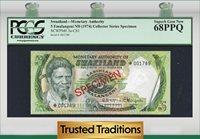 5 Emalangeni 1974 Cs1 Swaziland Specimen Pcgs 68 Ppq Superb Gem New