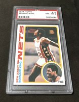 1978-79 Topps BERNARD KING #75 New Jersey Nets HOF Rookie Card RC - PSA 8 NM-MT