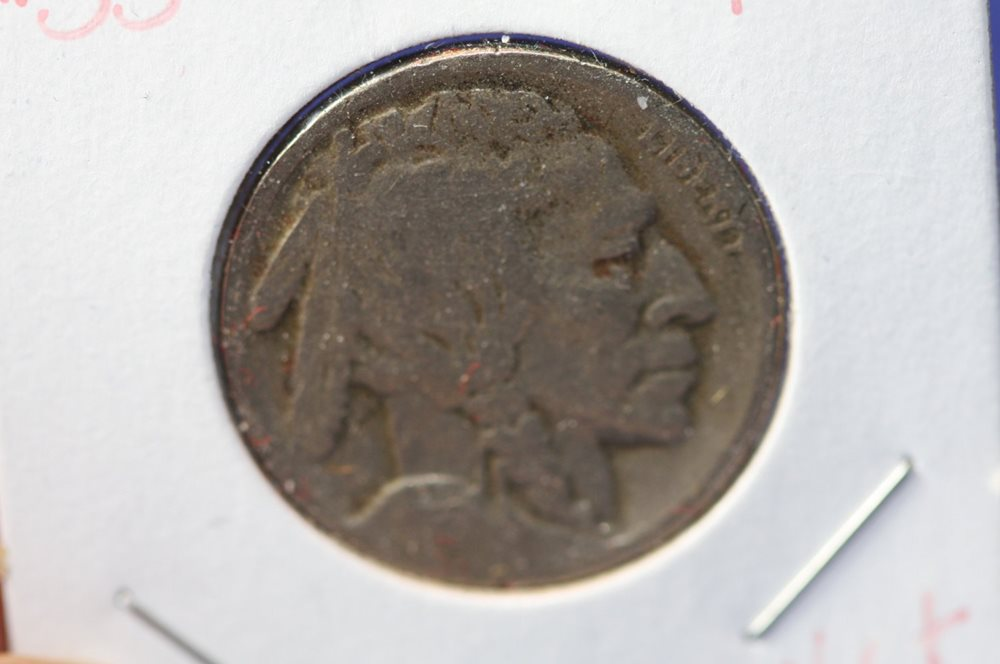 1919 D BUFFALO NICKELS GOOD G BN-GVG19D VERY GOOD VG 5 COINS