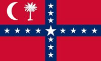 6 qty of 3x5 Inch Sticker SOUTH CAROLINA SOVEREIGNTY,State Flag Decal - Red