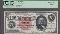 FR. # 261 1886 $5 SILVER CERTIFICATE PCGS XF-40