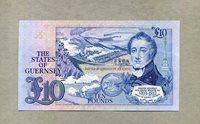 10 Pounds Nd(1980) Guernsey P 50b very nice banknote -