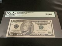 1999 Star $10 NY Federal Reserve Note PCGS 67 PPQ Superb Gem New Cool SERIAL #