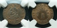 NGC--MS 63**1866 Italy--PAPAL STATE 'Pius IX' 1 Cent*Brown BU Luster