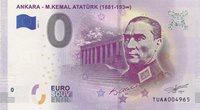 0 Euro Biljet Turkije 2019 Ankara M Kemal Atatürk