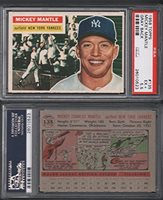 1956 Topps Regular Baseball Card 135 Mickey Mantle Psa Of The New York Yankees Exmt Condition