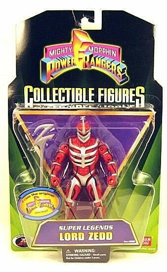 """Mighty Morphin Power Rangers Super Legends 5/"""" LORD ZEDD New Factory Sealed 2009"""