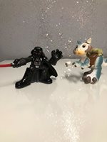 STAR WARS DARTH VADER 2006 HASBRO GALACTIC HEROES & Tauntaun FIGURE Set