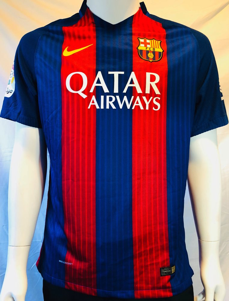 3a03d95ba13 Lionel Leo Messi Signed Autographed Barcelona Soccer Je