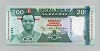 200 Emalangeni 19 4 2008 Swaziland Pick 35