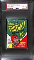 1970 Topps Football Wax Pack (OJ Simpson Rookie Year) Graded PSA 8 (New PSA Holder)