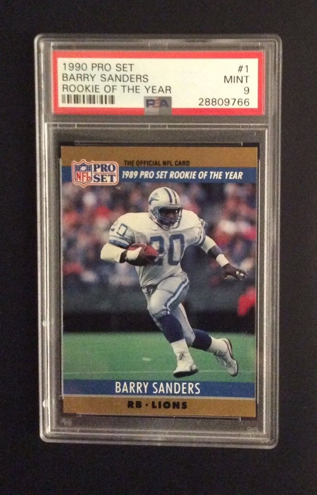 1990 Pro Set 1 Barry Sanders Psa 9 Mint Rookie Of The Year