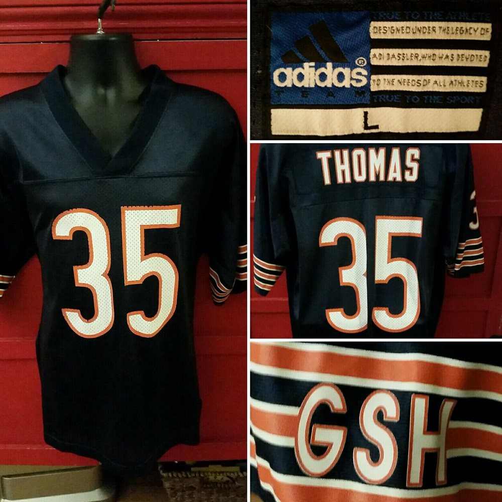Chicago Bears GSH NFL Football Adidas Jersey #35 Anthon