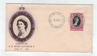 1953 New Hebrides Coronation 10c First Day Cover FDC