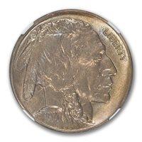1920-D Buffalo Nickel Type 2 5C NGC MS64 TONER PQ