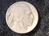 1924 Buffalo Nickel, G-4, Indian Head, Nickel, 1924 Nickel, epsteam, old nickel, old coin, old money, old medal, token, u s money,