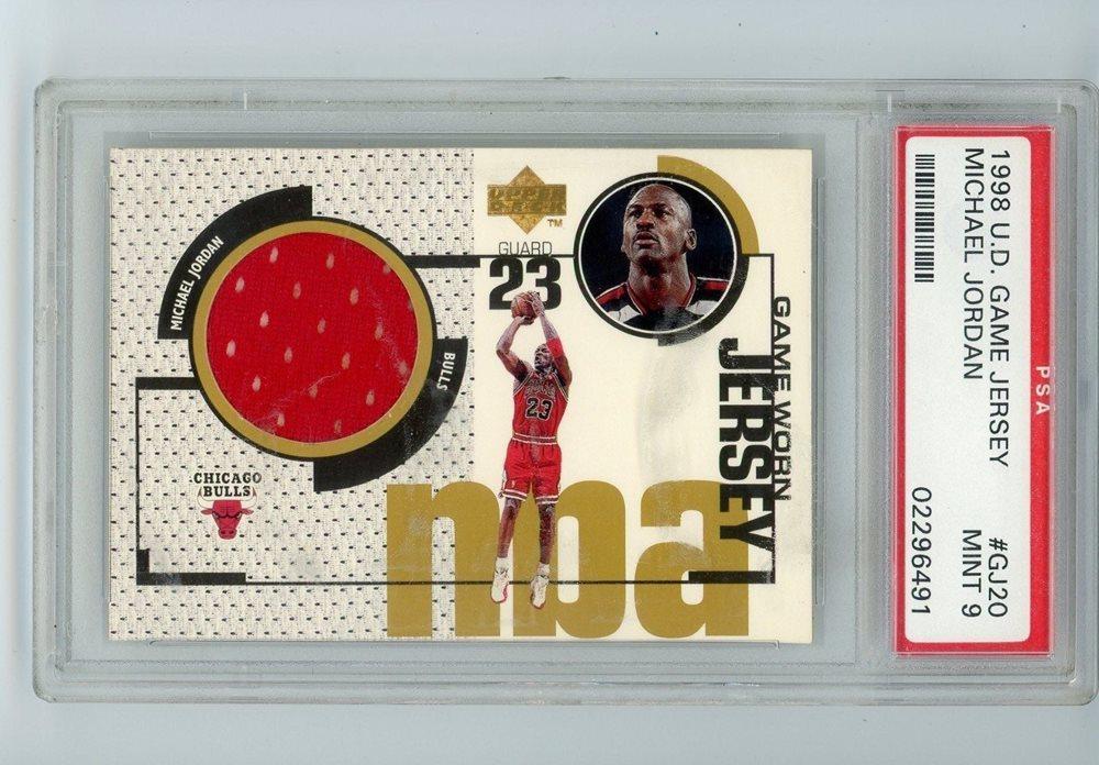 best service 94422 a09e3 1998 Upper Deck Michael Jordan Game Worn Jersey Card SP PSA 9 MINT (SUPER  RARE)
