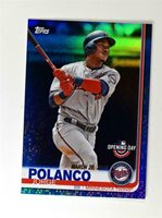 2019 Topps Opening Day Blue Foil #110 Jorge Polanco
