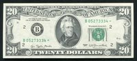 FR. 2072-B* 1977 $20 *STAR* FRN FEDERAL RESERVE NOTE NEW YORK, NY GEM UNC (B)