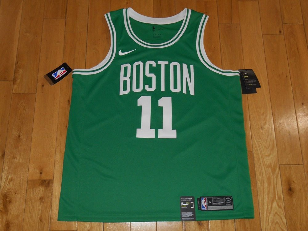 New Nike KYRIE IRVING Green BOSTON CELTICS Mens NBA Tea dbf9bac3e