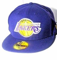 hot sale online d9cbc 881e9 Los Angeles Lakers New Era 59fifty NBA Fitted Hat Cap P