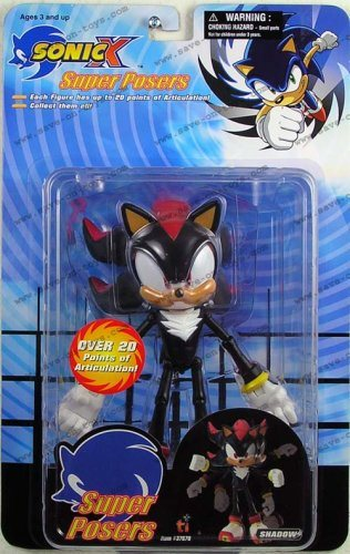Sonic The Hedgehog 6 Inch Action Figure Super Posers