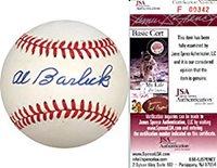 Al Barlick Autographed Baseball (James Spence) - Autographed Baseballs