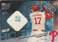 83a284ed652 Rhys Hoskins PHILLIES TOPPS NOW PLAYERS WEEKEND BLUE JERSEY 29 49 PWR-4C RC